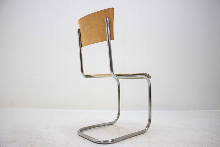 Pair of Chrome Bauhaus Robert Slezák Chairs, 1930s For Sale 1