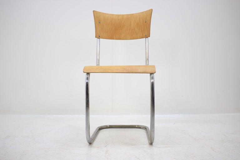 Pair of Chrome Bauhaus Robert Slezák Chairs, 1930s For Sale 2