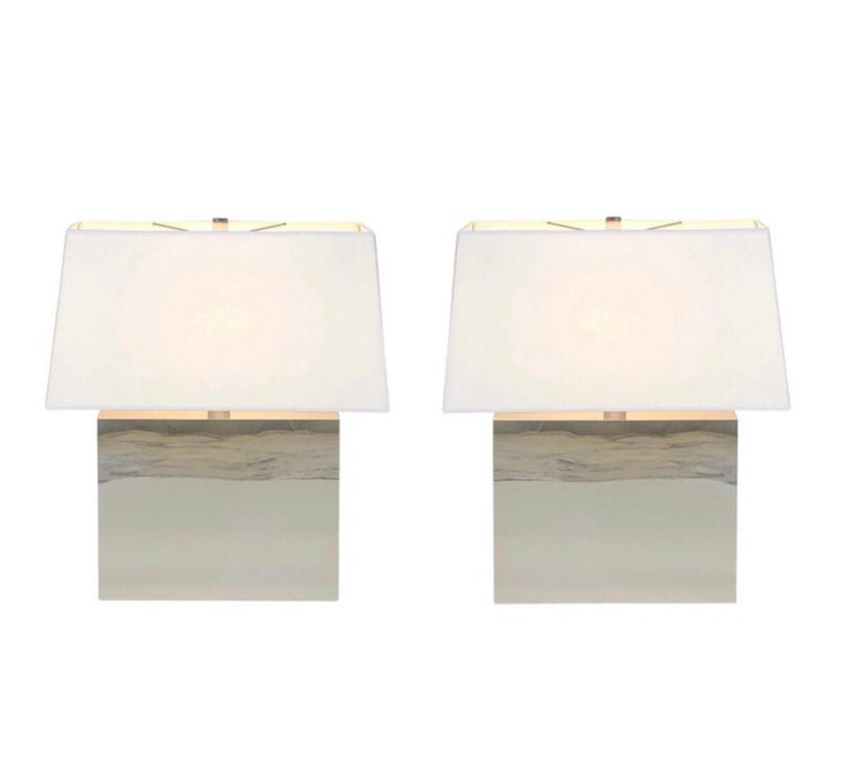 Pair of Chrome Table Lamps by Kovacs  For Sale 5