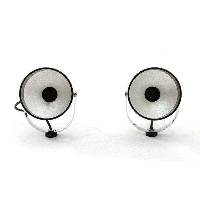 Metal Pair of Chromed Wall Lights by Gae Aulenti and Livio Castiglioni for Stilnovo, 1