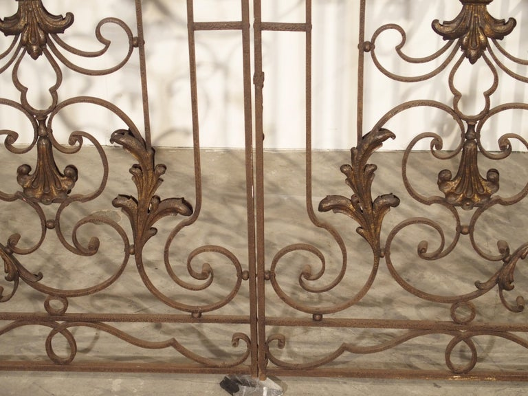 Pair of circa 1800 French Wrought Iron Gates For Sale 3