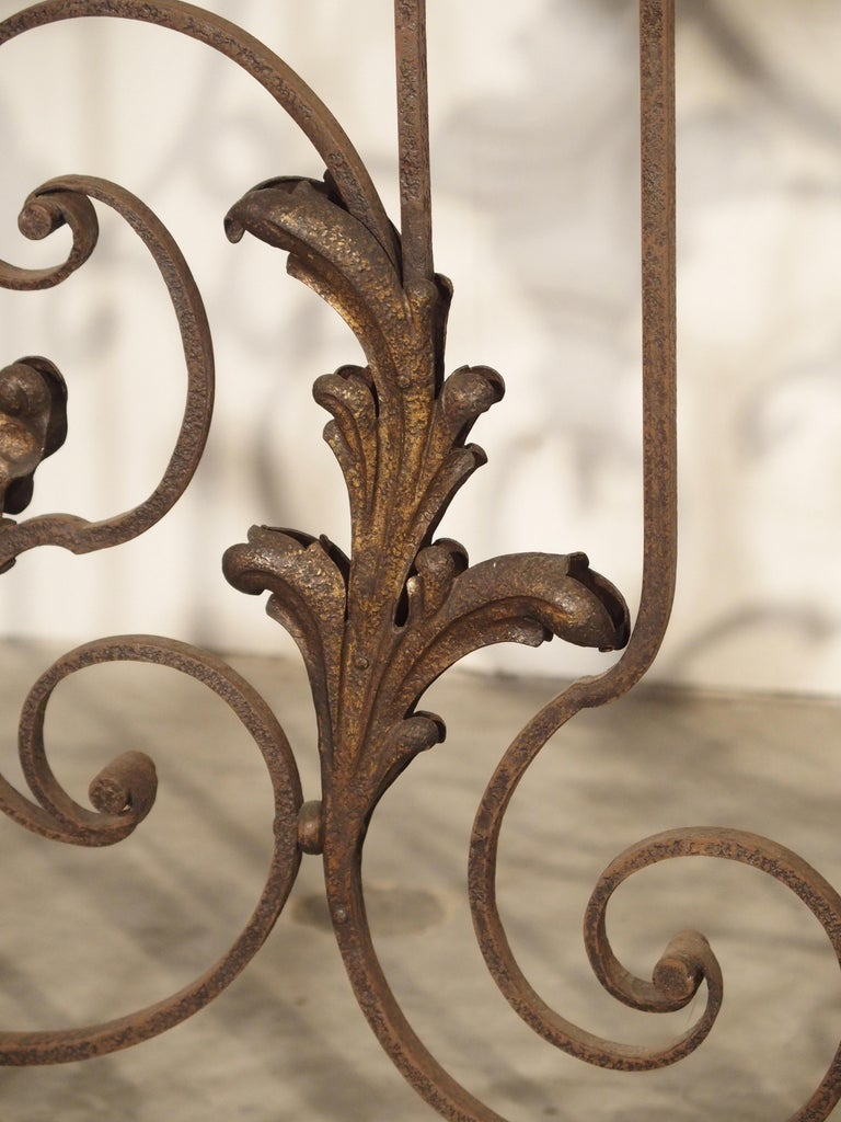 Pair of circa 1800 French Wrought Iron Gates For Sale 4