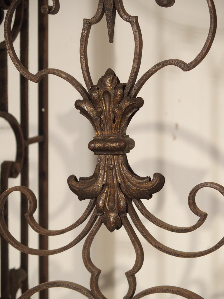 Pair of circa 1800 French Wrought Iron Gates For Sale 5