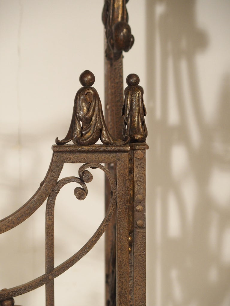 Pair of circa 1800 French Wrought Iron Gates For Sale 6