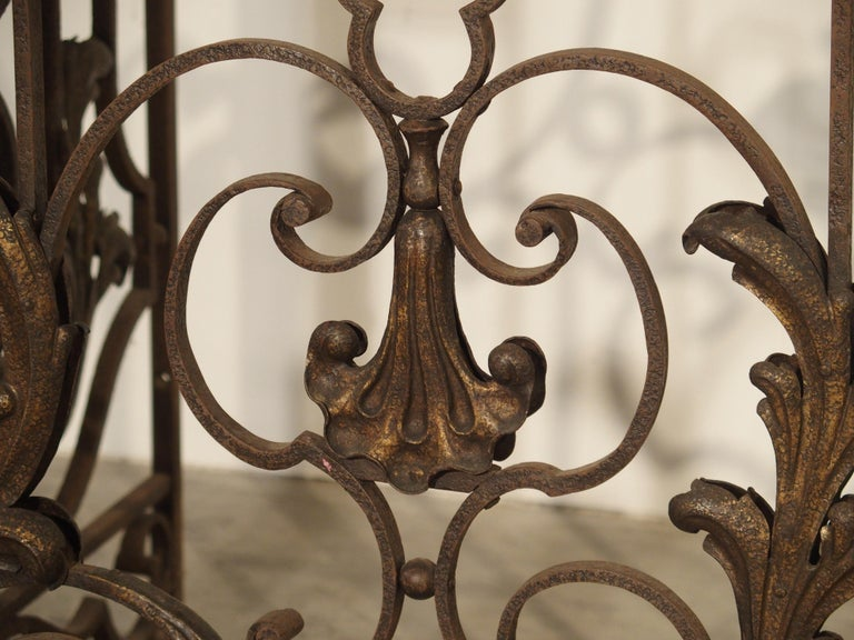 Pair of circa 1800 French Wrought Iron Gates For Sale 7