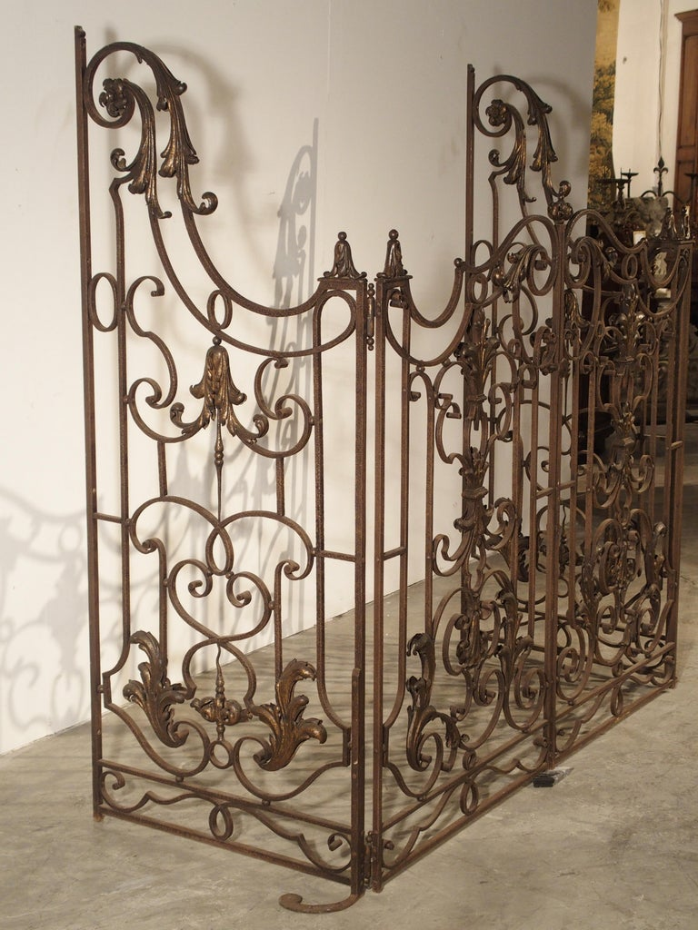Pair of circa 1800 French Wrought Iron Gates For Sale 8