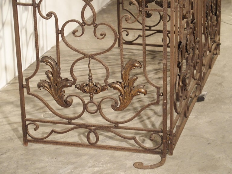 Pair of circa 1800 French Wrought Iron Gates For Sale 9