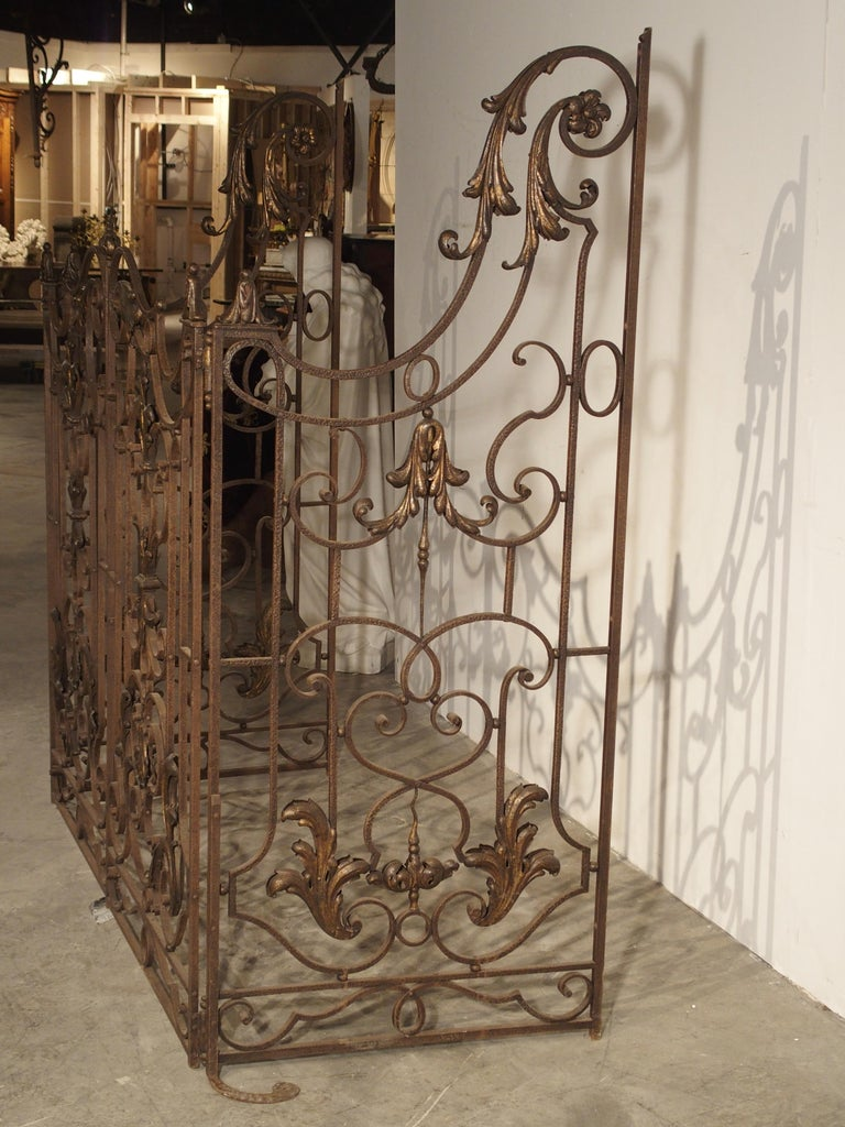 Pair of circa 1800 French Wrought Iron Gates For Sale 12