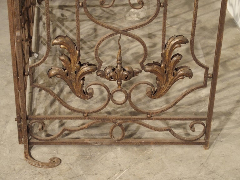 Pair of circa 1800 French Wrought Iron Gates For Sale 13