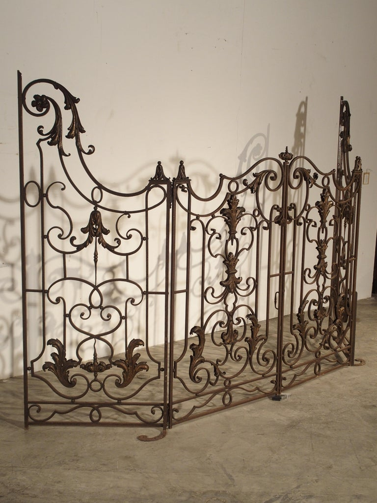 Louis XIV Pair of circa 1800 French Wrought Iron Gates For Sale