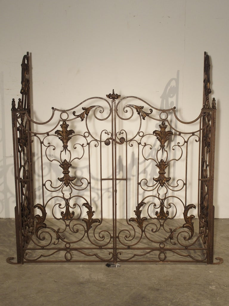 Pair of circa 1800 French Wrought Iron Gates In Good Condition For Sale In Dallas, TX