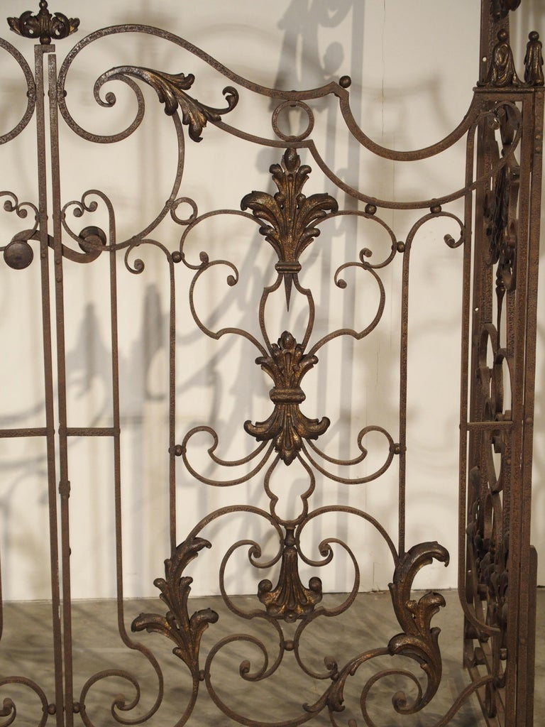 Pair of circa 1800 French Wrought Iron Gates For Sale 1