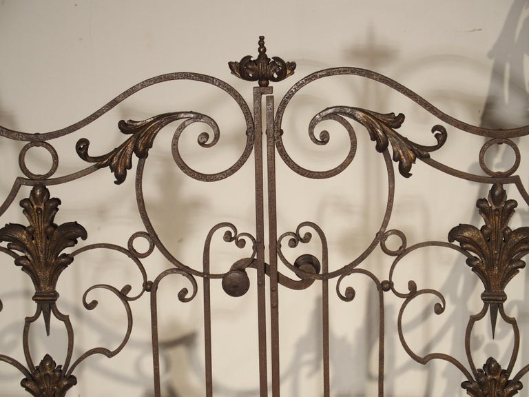 Pair of circa 1800 French Wrought Iron Gates For Sale 2