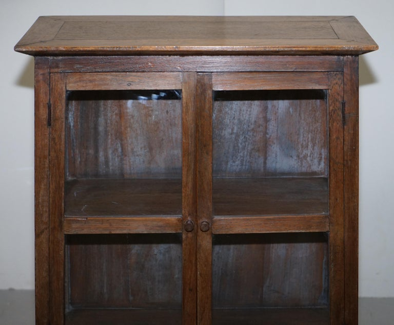 Pair of circa 1900 Chinese Temple Alter Style Glazed Door Bookcases Sideboards For Sale 8
