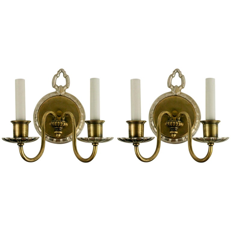 Pair of circa 1920s Two-Arm Sconce For Sale