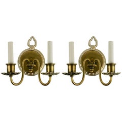 Pair of circa 1920s Two-Arm  Nautical Sconce