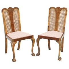 Pair of circa 1940s Berger & Flamed Mahogany Claw & Ball Feet Occasional Chairs