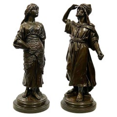 Pair of circa 19th Century Classical Bronzed Arab Statues