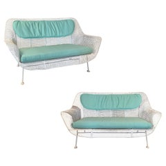 Pair of Classic 1950s 'Sculptura' Settees by Russell Woodard