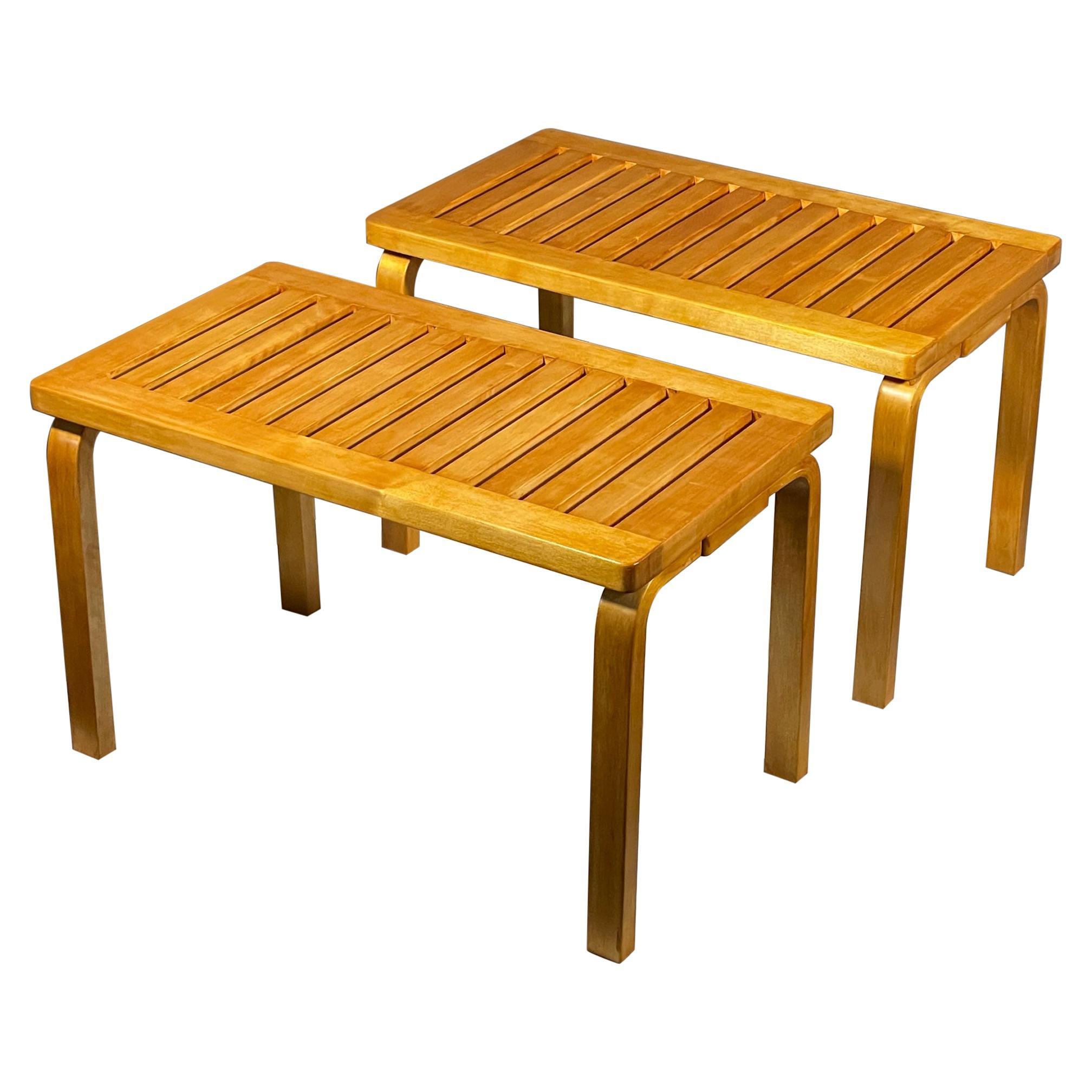 Pair of Classic Alvar Aalto Benches
