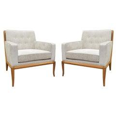 Pair of Classic Club Chairs by T.H. Robsjohn-Gibbings, 1950s