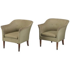 Pair of Classic Midcentury Danish 1950s Low Lounge Chairs