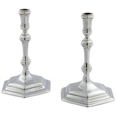 Pair of Classic Sterling Silver Taper Candlesticks