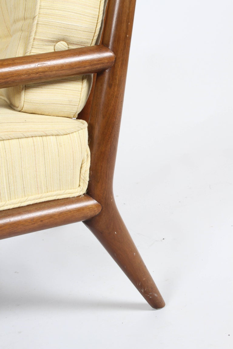 Pair of Classic T.H. Robsjohn-Gibbings for Widdicomb Lounge Chairs For Sale 4