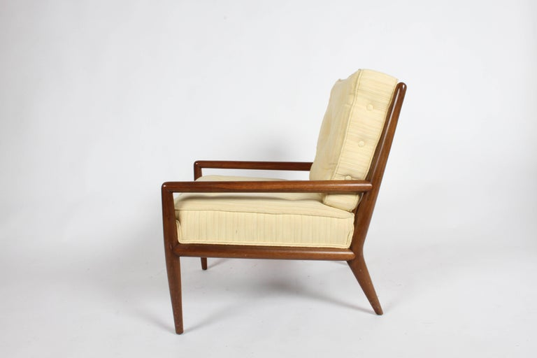 Upholstery Pair of Classic T.H. Robsjohn-Gibbings for Widdicomb Lounge Chairs For Sale