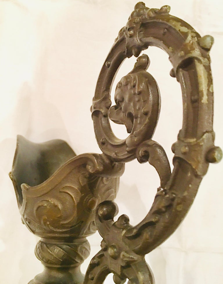 Pair of Classical 19th Century Bronze Fountain Ewers For Sale 5