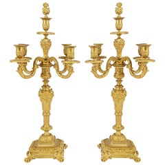 Pair of Classical 19th Century Table Candelabra