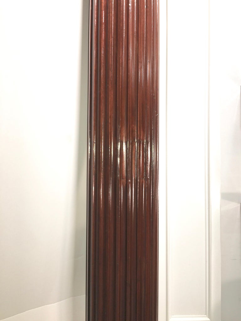Pair of Classical Mahogany Fluted Columns For Sale 7