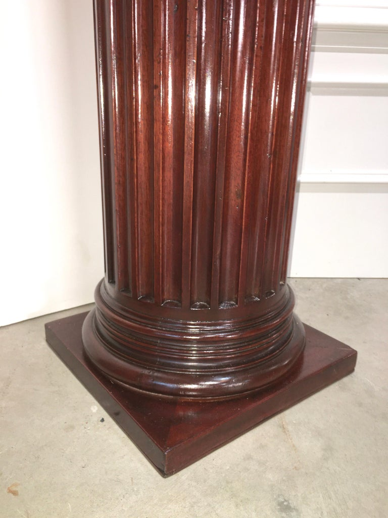 Pair of Classical Mahogany Fluted Columns For Sale 8