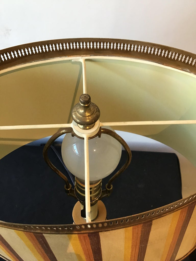 Pair of Classical Tole Lamps For Sale 4