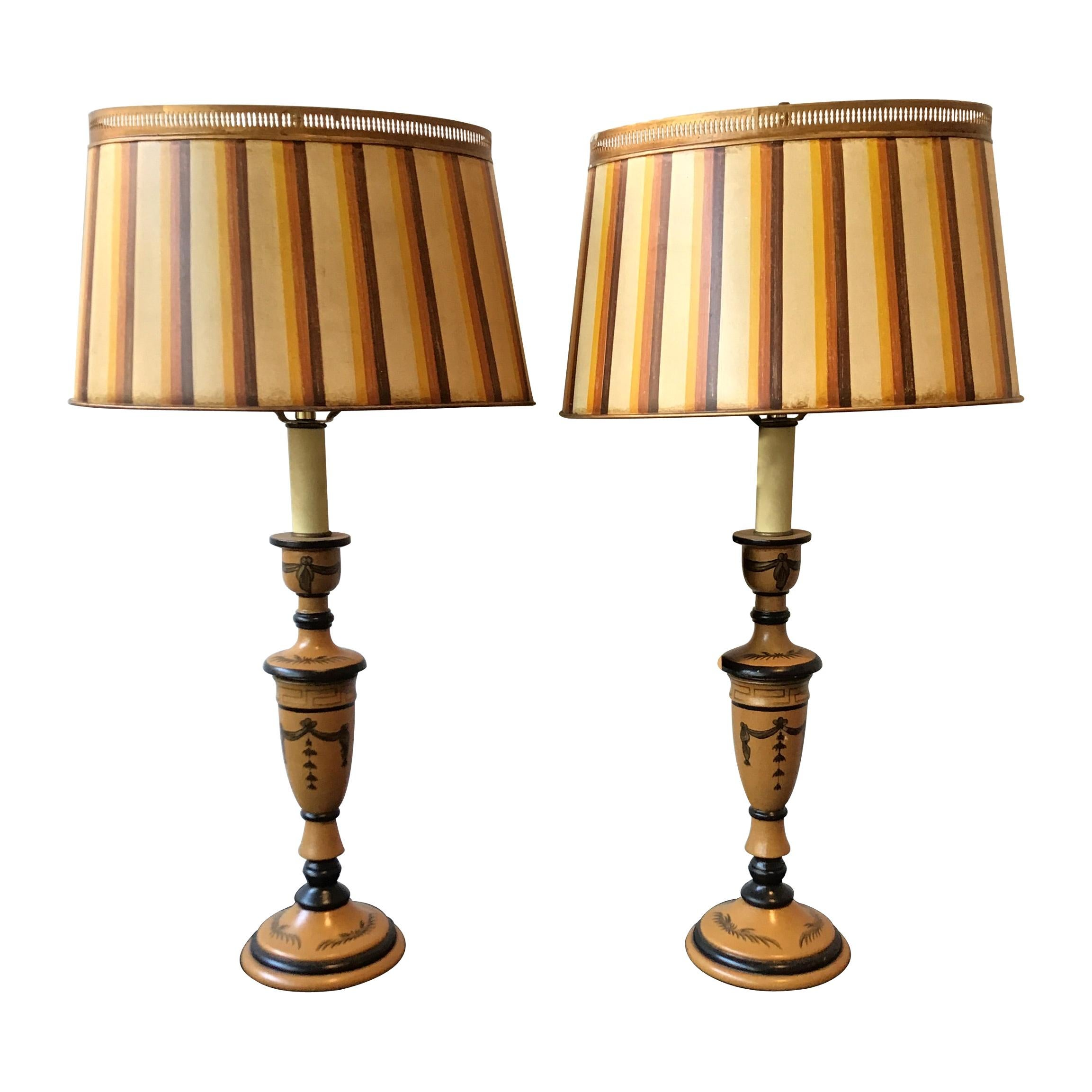Pair of Classical Tole Lamps
