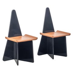 Pair of Claudio Salocchi Napoleone chairs for Sormani, Italy 1973
