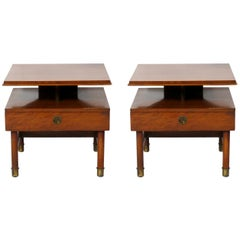 Pair of Clean Lined Nightstands or End Tables by Renzo Rutili
