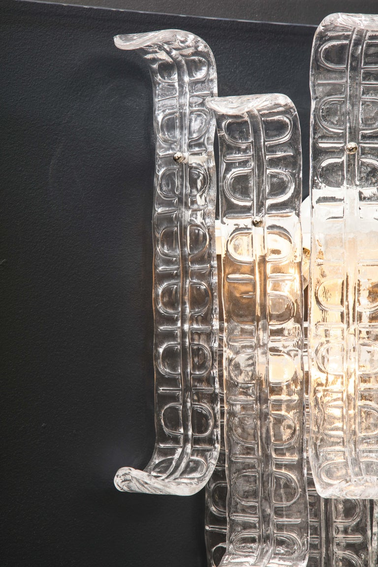 Contemporary Pair of Clear Murano Glass