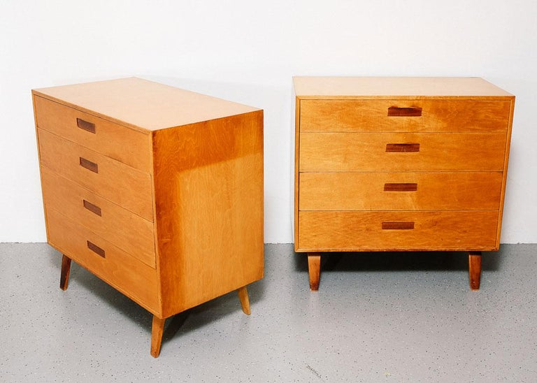 Mid-Century Modern Pair of Clifford Pascoe Chest of Drawers For Sale