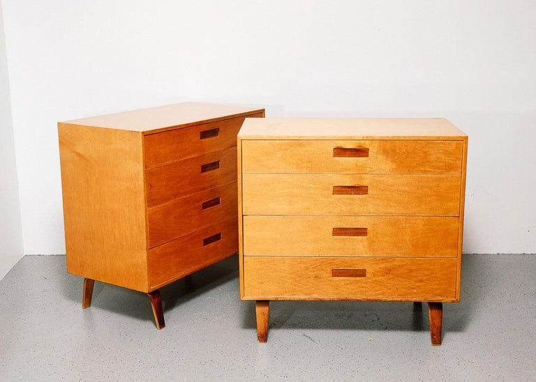 Wood Pair of Clifford Pascoe Chest of Drawers For Sale