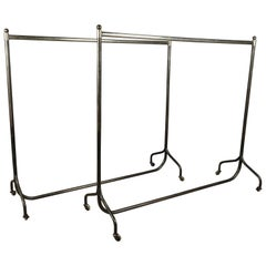 Pair of Clothing Racks from France, Manufactured by Siegel, Paris