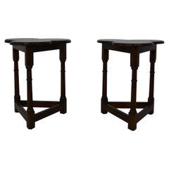 Pair of Cloverleaf Side Tables