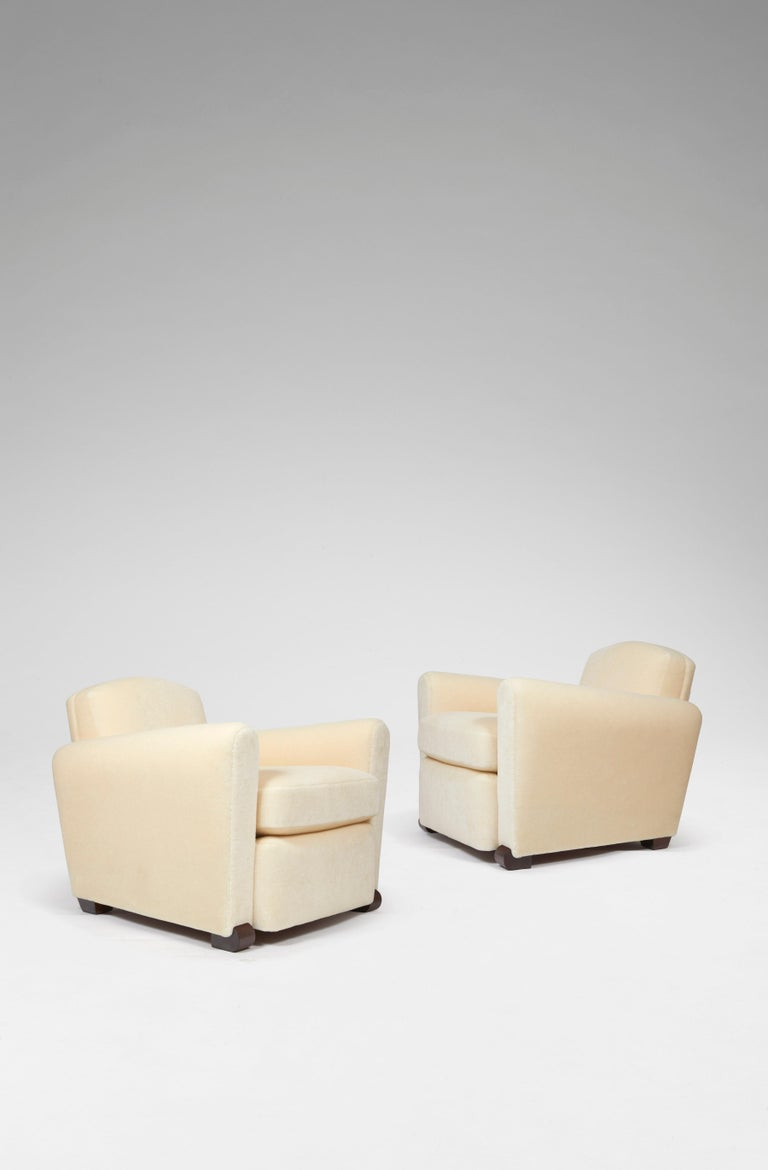 Art Deco Pair of Club Armchairs For Sale