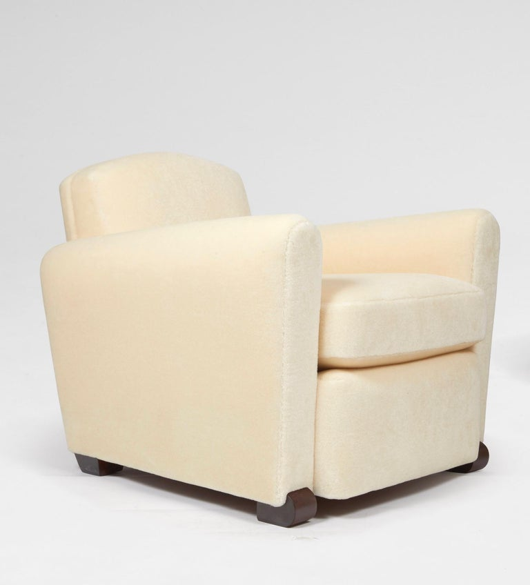 French Pair of Club Armchairs For Sale