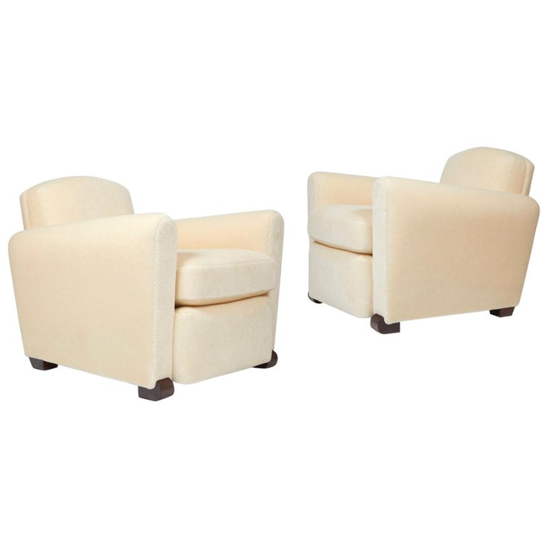 Pair of Club Armchairs For Sale