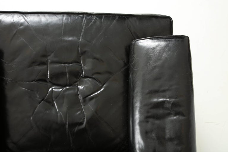 Leather Pair of Club Chairs Attributed to Sam Marx For Sale
