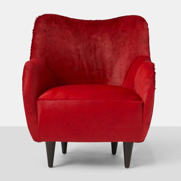 Brazilian Pair of Club Chairs by Joaquim Tenreiro For Sale
