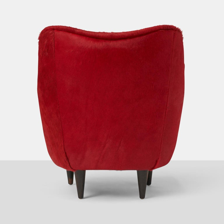 Mid-20th Century Pair of Club Chairs by Joaquim Tenreiro For Sale