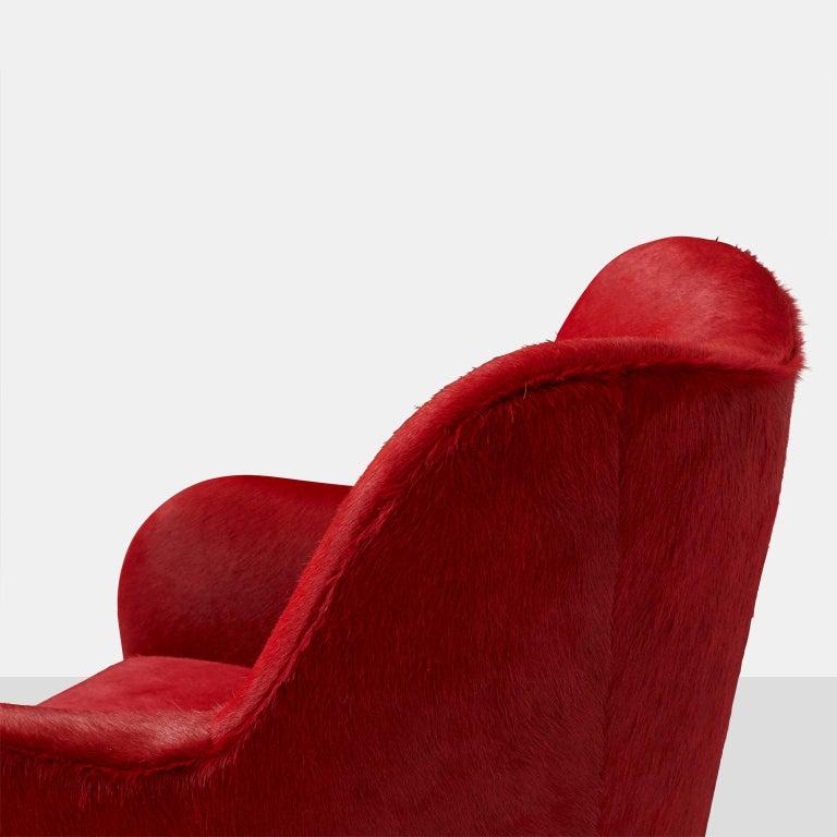 Hide Pair of Club Chairs by Joaquim Tenreiro For Sale