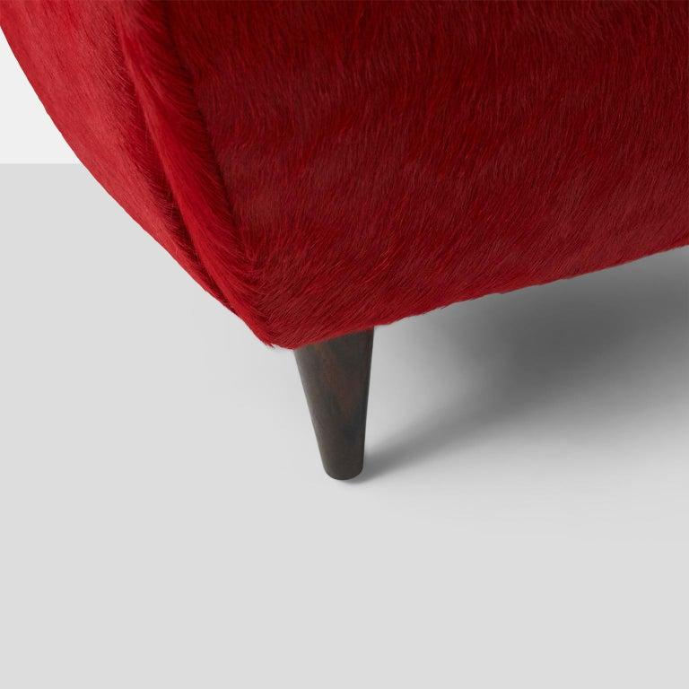 Pair of Club Chairs by Joaquim Tenreiro For Sale 2